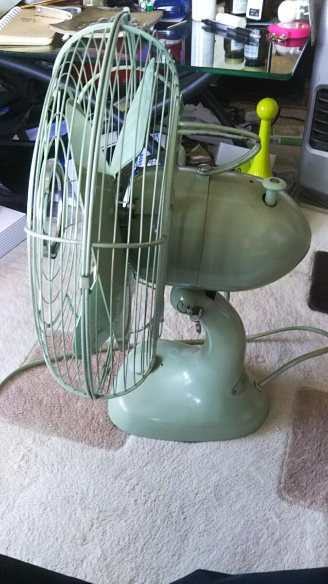 明電舎 MEIDEN 扇風機 DZ-308A 昭和レトロ アンティーク 美品 山梨 緑 ライムグリーン_画像5