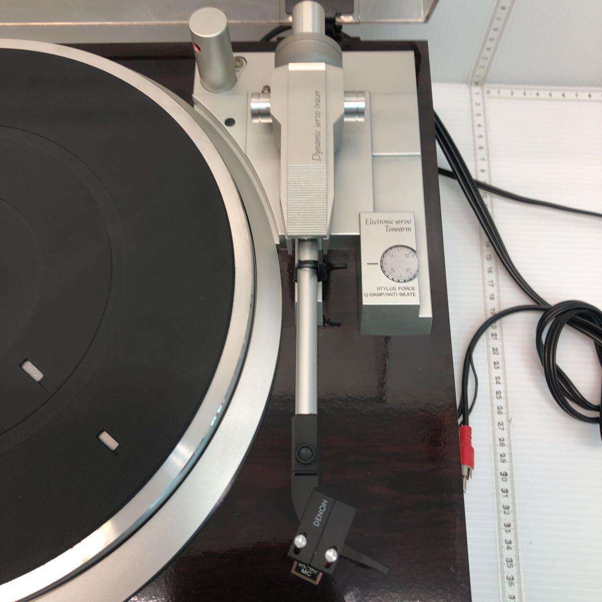 DENON デノン レコードプレーヤー DP-47F 通電のみ確認 ジャンク 1円スタート_画像5