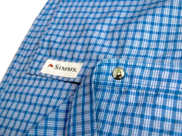 SIMMS シムス モラーダ SS シャツ タイドル ブルー プレイド US-S_画像7