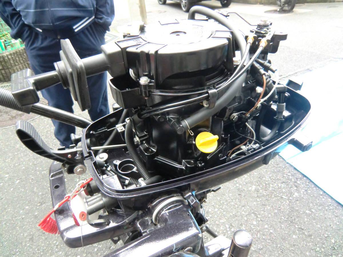 TOHATSUエンジン28年式 6馬力4スト水冷式。レギュラガソリン。トランサムS.社内保管ですがキズあります。