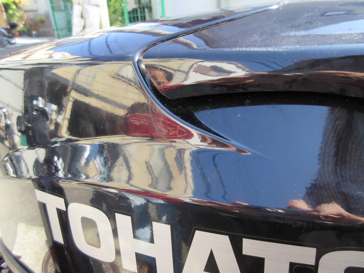 TOHATSUエンジン28年式 6馬力4スト水冷式。レギュラガソリン。トランサムS.社内保管ですがキズあります。_画像10
