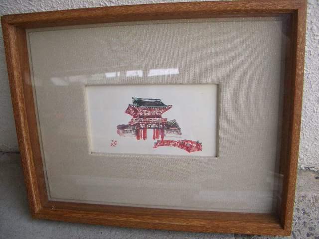 1円スタート アンティーク調 額 6枚 セット まとめ フレーム 写真立て 絵 絵画 インテリア 壁掛け スタンド式 木製 いろいろ 雑貨 /281_画像3
