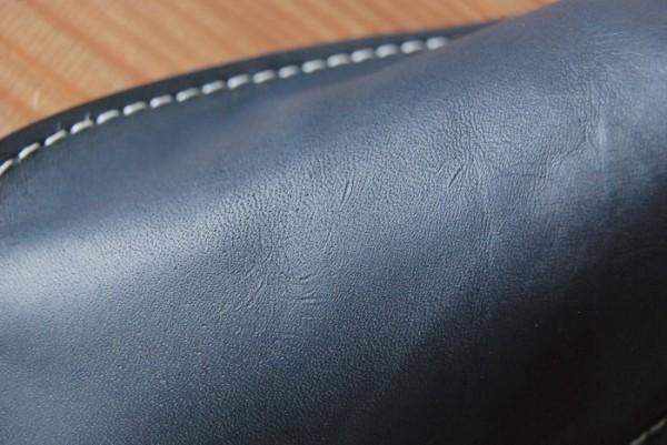 ハンドメイド オールレザー 革底 本革 スリッパ ルームシューズ 日本製 Sサイズ s2515 BL×BR_画像4