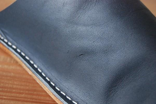 ハンドメイド オールレザー 革底 本革 スリッパ ルームシューズ 日本製 Sサイズ s2515 BL×BR_画像5