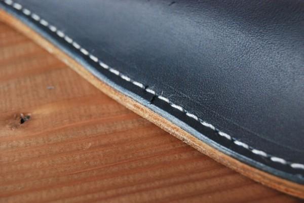 ハンドメイド オールレザー 革底 本革 スリッパ ルームシューズ 日本製 Sサイズ s2515 BL×BR_画像6