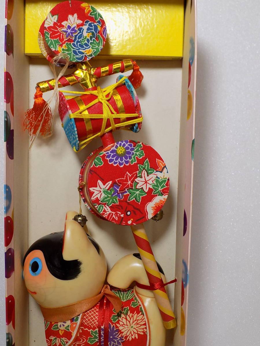 なつかしの民芸  郷土玩具 「でんでん太鼓 犬張子」 (詳細不明)_画像4