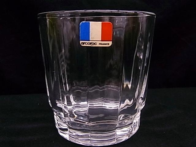 e1129 アルコロック arcoroc FRANCE タンブラーグラス コップ 3客 USED_画像2