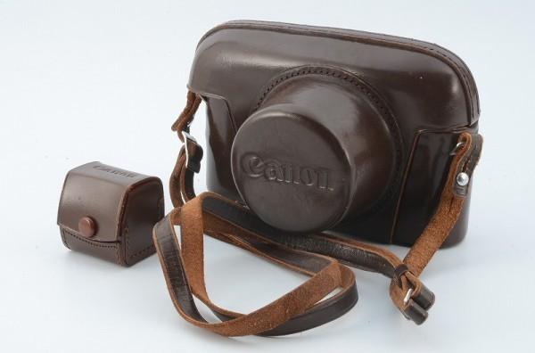 *値下げ交渉歓迎 美品* Canon キャノン レンジファインダ ケース  7,P(ポピュレール)用 35mm ビューファインダー用ケース付 13745