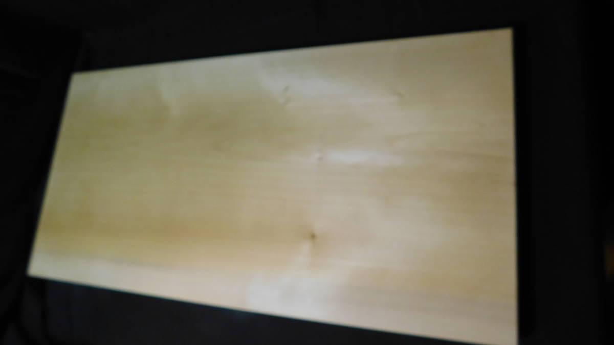 ■銀杏(いちょう)のまな板 一枚板研磨済み (大型)-3  長さ約61.2㎝ 幅約30.5㎝ 高さ約3.2㎝_画像3