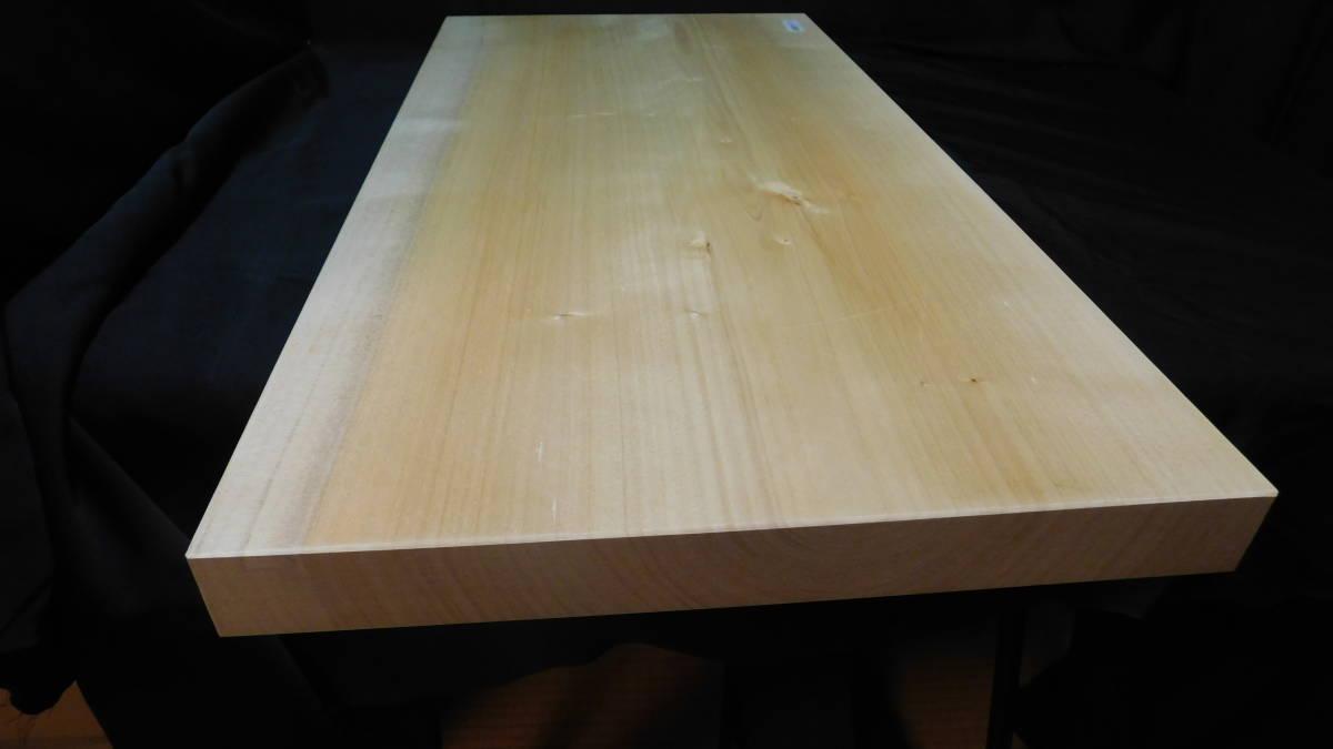 ■銀杏(いちょう)のまな板 一枚板研磨済み (大型)-3  長さ約61.2㎝ 幅約30.5㎝ 高さ約3.2㎝_画像5