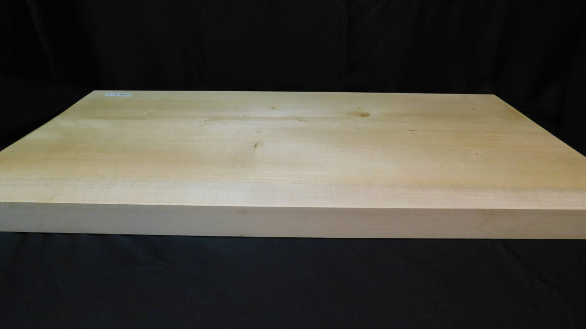 ■銀杏(いちょう)のまな板 一枚板研磨済み (大型)-3  長さ約61.2㎝ 幅約30.5㎝ 高さ約3.2㎝_画像7