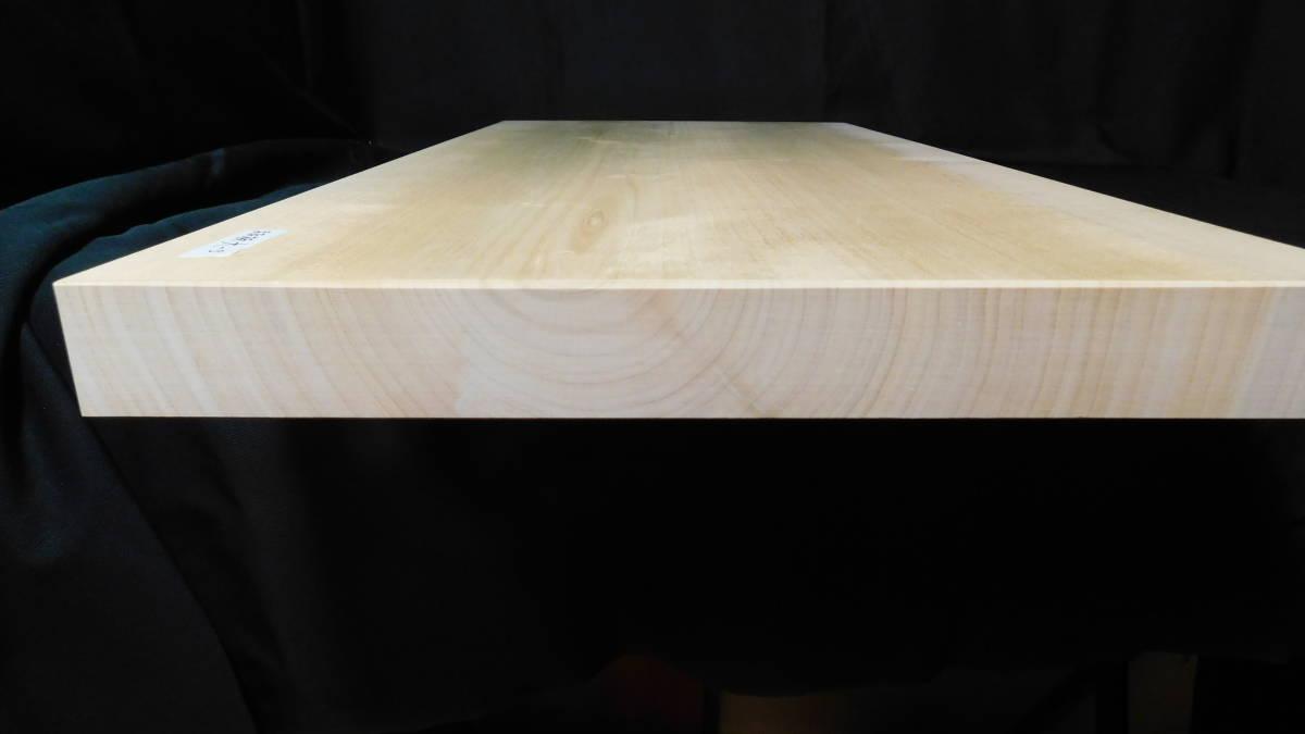 ■銀杏(いちょう)のまな板 一枚板研磨済み (大型)-3  長さ約61.2㎝ 幅約30.5㎝ 高さ約3.2㎝_画像8