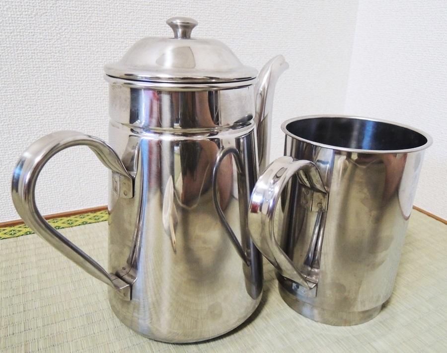 業務用 ステンレスコーヒーポット 泉 #16 3L 大容量 喫茶店 店舗用品 水差しオマケ_画像5