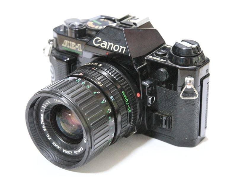 CANON AE-1 PROGRAM + FD 35-70mm 1:3.5-4.5 共にジャンク