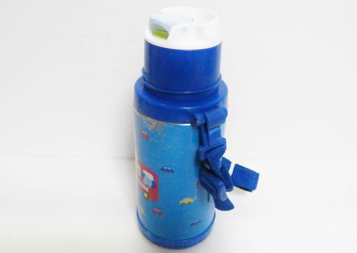 ミキハウス ステンレスボトル 370ml 直飲みorコップを用途に合わせて使い分けられる2WAYタイプ/軽量設計 保温保冷兼用 0.37L ブルー 日本製_画像4