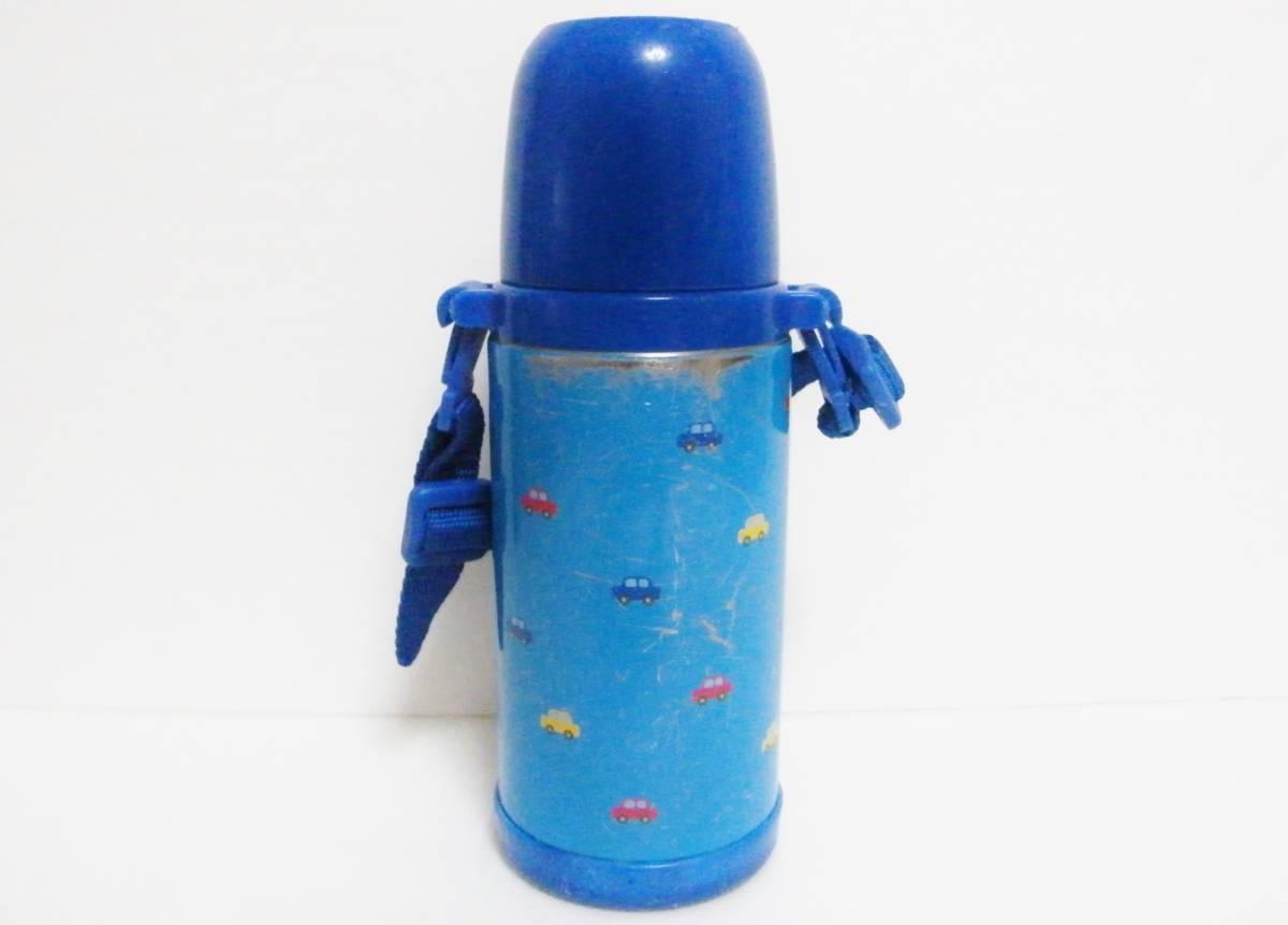 ミキハウス ステンレスボトル 370ml 直飲みorコップを用途に合わせて使い分けられる2WAYタイプ/軽量設計 保温保冷兼用 0.37L ブルー 日本製_画像3