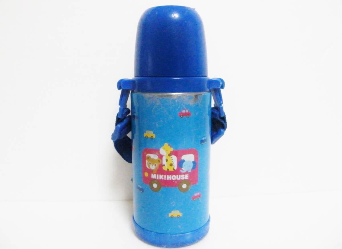 ミキハウス ステンレスボトル 370ml 直飲みorコップを用途に合わせて使い分けられる2WAYタイプ/軽量設計 保温保冷兼用 0.37L ブルー 日本製_画像2