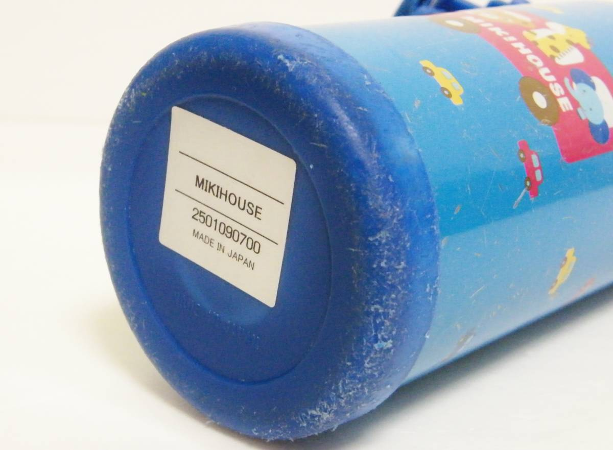 ミキハウス ステンレスボトル 370ml 直飲みorコップを用途に合わせて使い分けられる2WAYタイプ/軽量設計 保温保冷兼用 0.37L ブルー 日本製_画像9