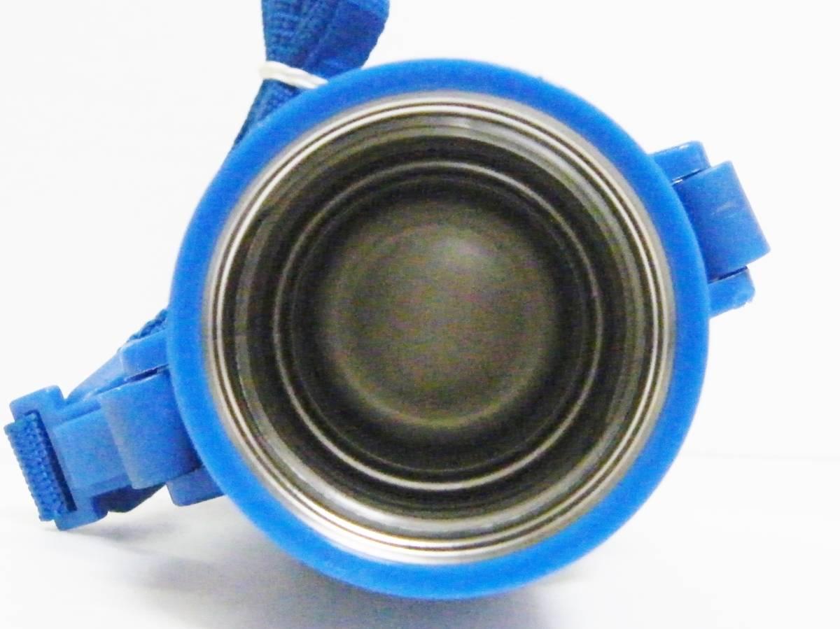 ミキハウス ステンレスボトル 370ml 直飲みorコップを用途に合わせて使い分けられる2WAYタイプ/軽量設計 保温保冷兼用 0.37L ブルー 日本製_画像5
