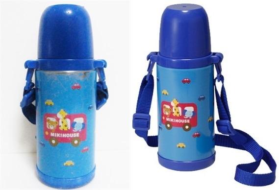 ミキハウス ステンレスボトル 370ml 直飲みorコップを用途に合わせて使い分けられる2WAYタイプ/軽量設計 保温保冷兼用 0.37L ブルー 日本製