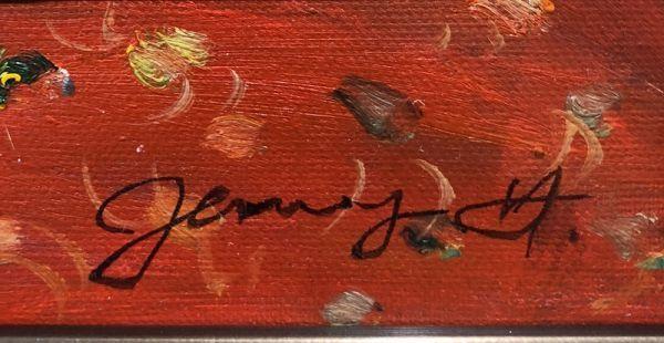 油絵 人物画『喘ぎ(あえぎ)』Jenny.Y作 肉筆1点物 女性 裸婦 ヌード セクシー 美女 J3-2.19-AN7_画像6