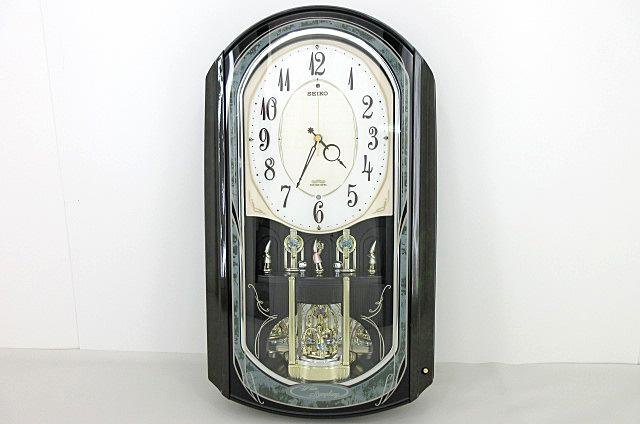 t99■【SEIKO セイコー】 電波からくり時計 RE560M 掛け時計