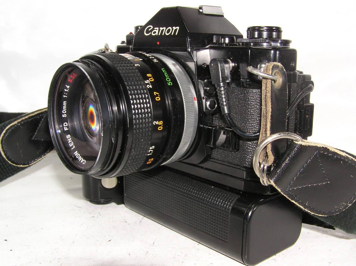 キャノン A-1 レンズCANON FD S,S,C 1:1.4 50mm モータードライブMA付 _画像2