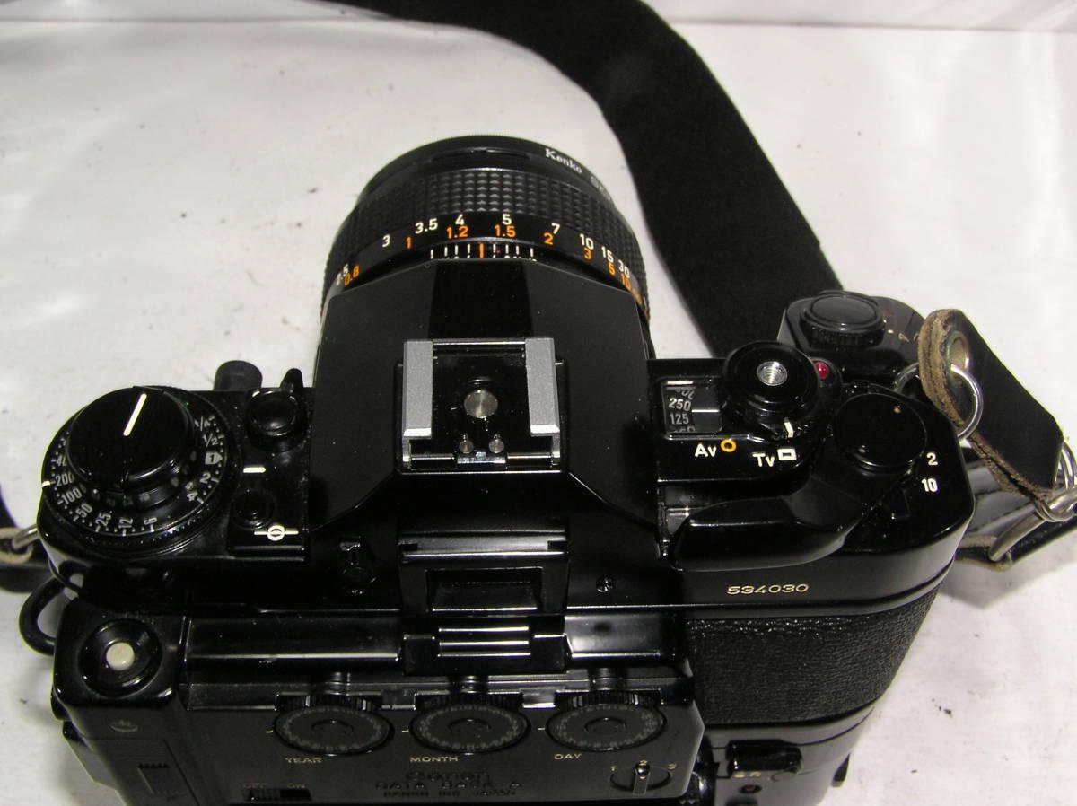 キャノン A-1 レンズCANON FD S,S,C 1:1.4 50mm モータードライブMA付 _画像4
