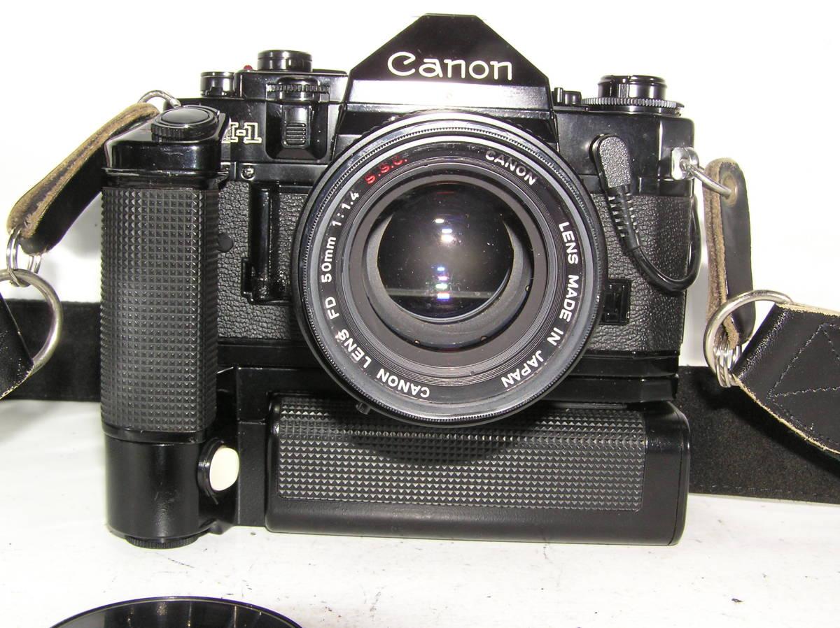 キャノン A-1 レンズCANON FD S,S,C 1:1.4 50mm モータードライブMA付