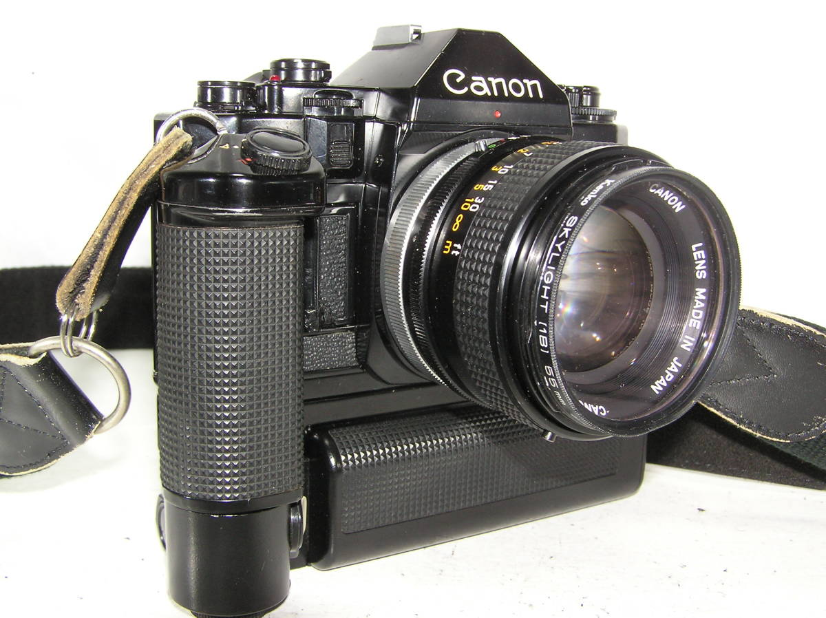 キャノン A-1 レンズCANON FD S,S,C 1:1.4 50mm モータードライブMA付 _画像3