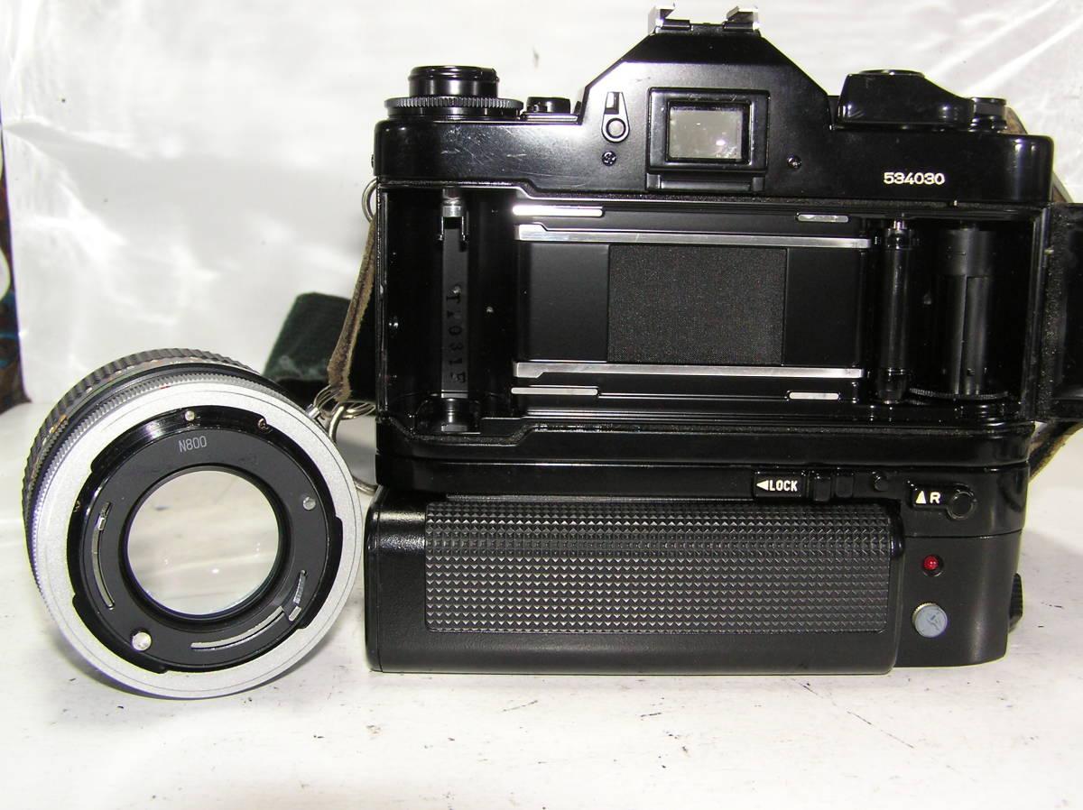キャノン A-1 レンズCANON FD S,S,C 1:1.4 50mm モータードライブMA付 _画像5