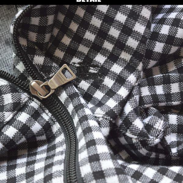 ■バーバリーブラックレーベル(BURBERRY)■超美品 ホースマン刺繍 ギンガムチェックジップパーカ 2/M_画像2