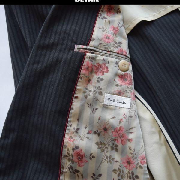 ■ポールスミス(Paul Smith)■美品 トロピカルギャバジンジャケット 黒/L_画像2