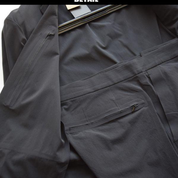 ◆コムサメン(COMME CA MEN)◆春夏 定価63.840円 クールライトセットアップジャケット&パンツ 黒/M 15JF01_画像2