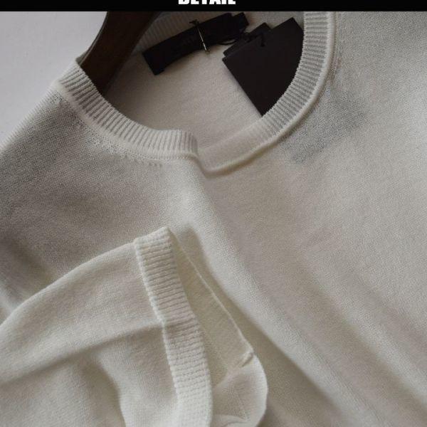 ◆アルチザン(ARTISAN)◆新品未使用 定価24.840円 日本製 ハイミックスクルーネックニット 白/M 90KZ32_画像2