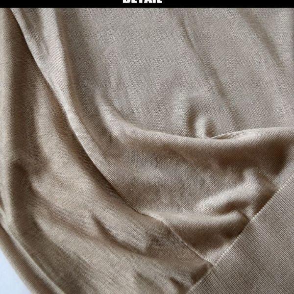 ◆アルチザン(ARTISAN)◆店頭最新作 定価31.320円 シルク100% クルーネックショートスリーブニット キャメル Mサイズ 36KF22_画像2