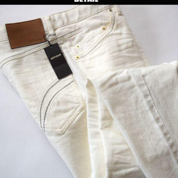 ◆アルチザン(ARTISAN)◆最新作展示品 定価35.640円 日本製 銀糸仕様ホワイトデニム Sサイズ 29PS11_画像2