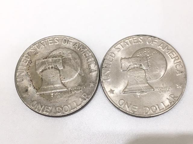 【A191B】外国銭 アメリカ ドル 米ドル カナダ おまとめ 1ドル銀貨 50セント 25セント など 銀貨あり 外貨 コイン_画像3