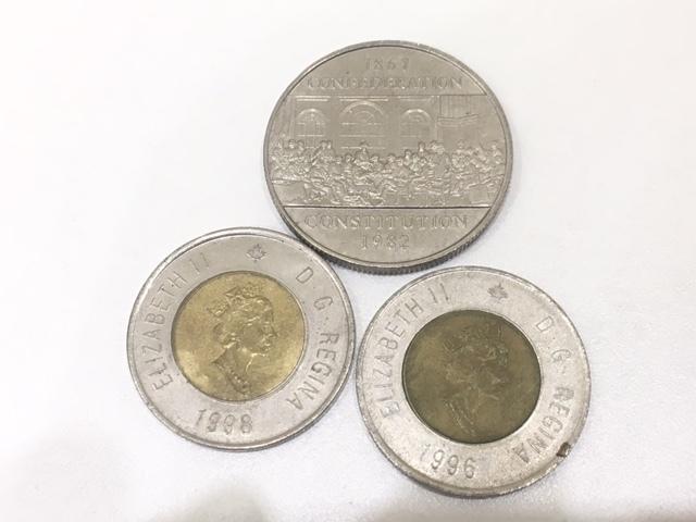 【A191B】外国銭 アメリカ ドル 米ドル カナダ おまとめ 1ドル銀貨 50セント 25セント など 銀貨あり 外貨 コイン_画像9