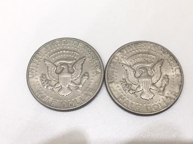 【A191B】外国銭 アメリカ ドル 米ドル カナダ おまとめ 1ドル銀貨 50セント 25セント など 銀貨あり 外貨 コイン_画像5