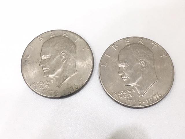 【A191B】外国銭 アメリカ ドル 米ドル カナダ おまとめ 1ドル銀貨 50セント 25セント など 銀貨あり 外貨 コイン_画像2