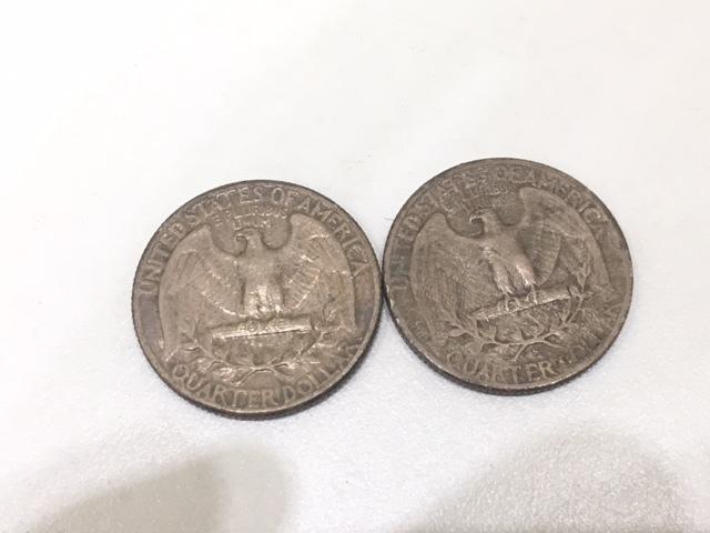 【A191B】外国銭 アメリカ ドル 米ドル カナダ おまとめ 1ドル銀貨 50セント 25セント など 銀貨あり 外貨 コイン_画像7