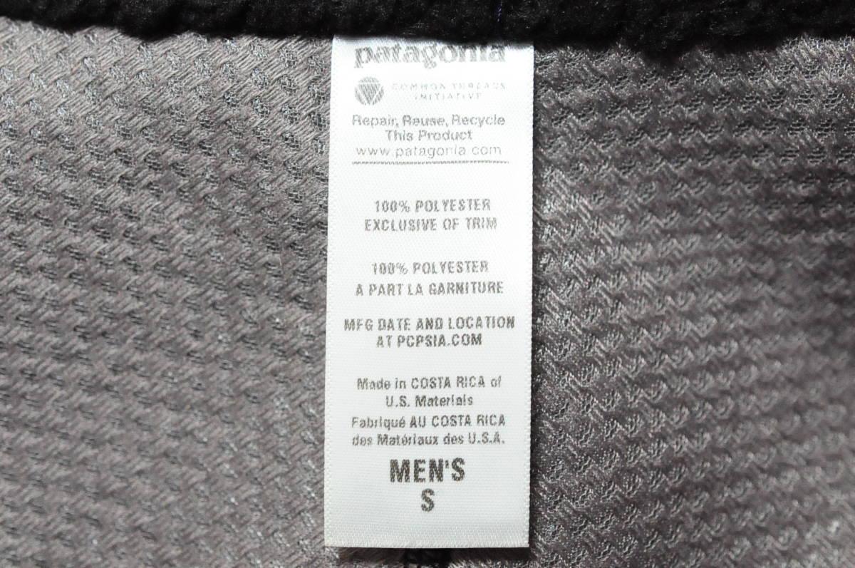 ◆1円~ patagonia パタゴニア レトロベスト RetroX ブラック 黒 MENS S 日本M位/887 クラシックレトロカーディガン Tシャツ_画像7