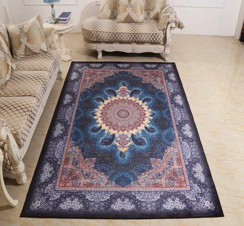 豪華天然入イラン ペルシャ絨毯☆ウール高密度200万縫い針世界の名品06