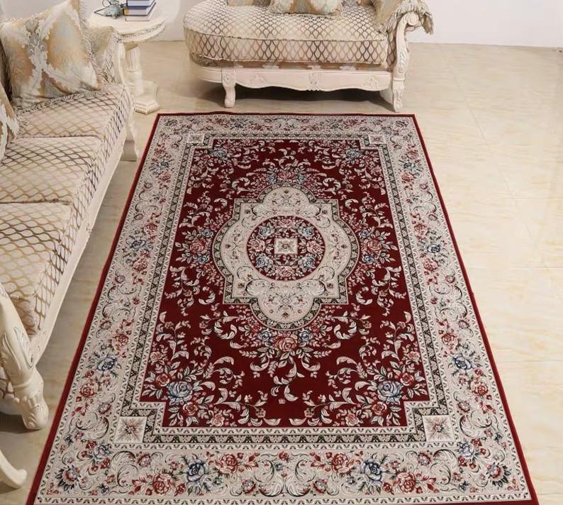豪華天然入イラン ペルシャ絨毯☆ウール高密度200万縫い針世界の名品04