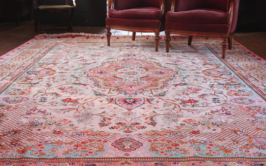 未使用☆豪華天然入イラン ペルシャ絨毯☆ウール高密度200万縫い針世界の名品01_画像3