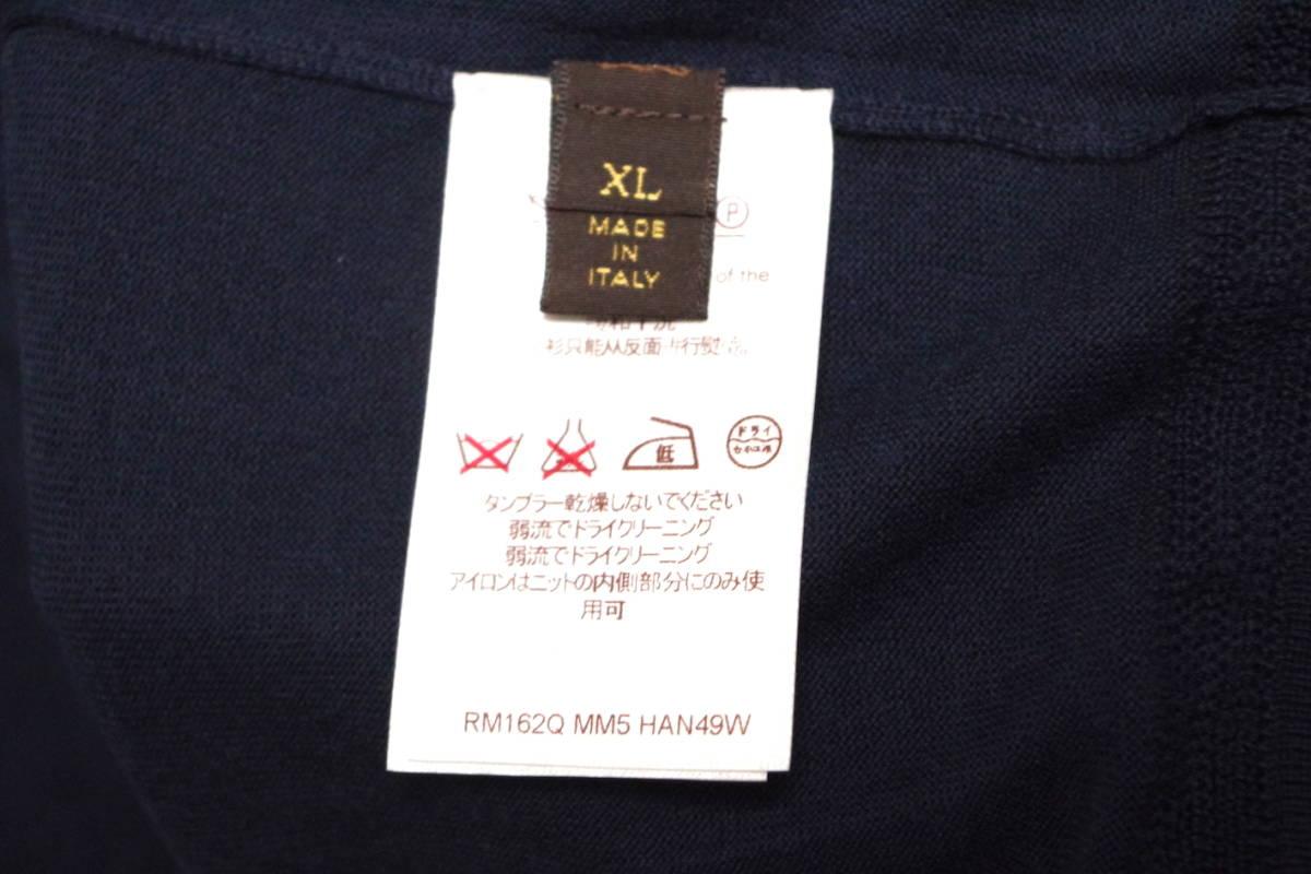 17SS LOUIS VUITTON ルイヴィトン Vネック カーディガン ネイビーXL サークルロゴ LV チャップマンブラザーズ ダミエ Tシャツ モノグラム_画像9