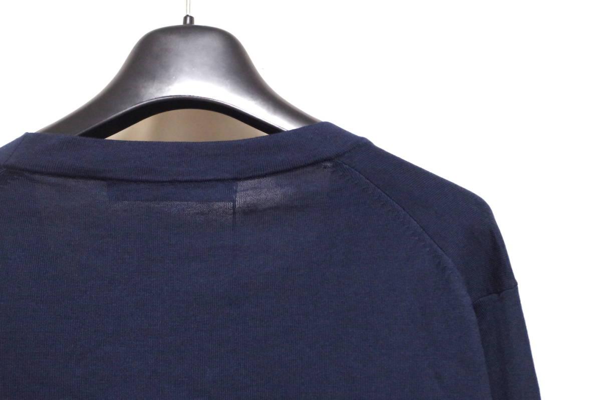 17SS LOUIS VUITTON ルイヴィトン Vネック カーディガン ネイビーXL サークルロゴ LV チャップマンブラザーズ ダミエ Tシャツ モノグラム_画像7