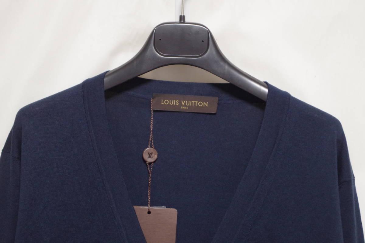 17SS LOUIS VUITTON ルイヴィトン Vネック カーディガン ネイビーXL サークルロゴ LV チャップマンブラザーズ ダミエ Tシャツ モノグラム_画像3