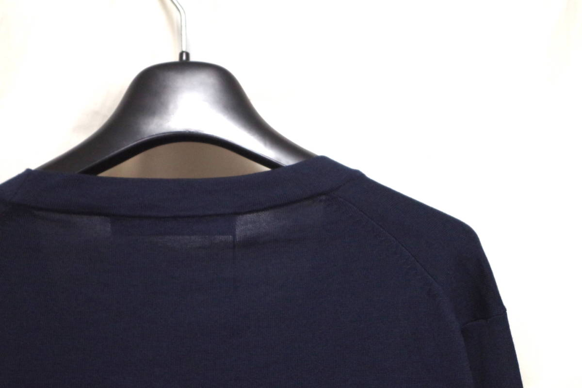 17SS LOUIS VUITTON ルイヴィトン Vネック カーディガン ネイビーXL サークルロゴ LV チャップマンブラザーズ ダミエ Tシャツ モノグラム_画像5